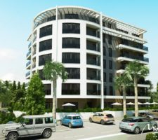 One-bedroom apartment in a new building 10 minutes from the beach in Tivat