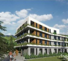 One-bedroom apartment in a new complex in the center of Tivat
