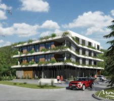 Two-bedroom apartment in a new complex in the center of Tivat