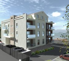 2-bedroom apartments in a new residential building in Tivat