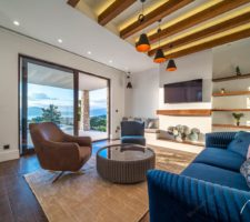New, stylish villa with pool and panoramic views in Tivat