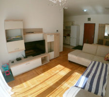 Sunny apartment with a large terrace in Budva